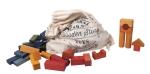 Bauklötze von Wooden Story - farbig lasiert - 100 Stück im Sack