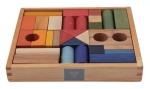 Regenbogen Bauklötze von Wooden Story -  30 Teile