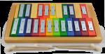 Einzelton-Glockenspiel chromatisch - 20 Töne - von Decor-Spielzeug