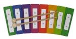 Regenbogen-Glockenspiel - 8 Töne - diatonisch von Decor Spielzeug